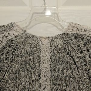 Zara Sweaters - ZARA KNIT CROCHET TRIM SWEATER